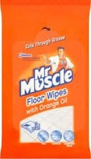 Mr Muscle Floor Wipes Pack 12 - With Orange Oil